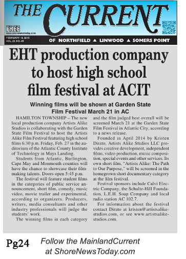 The Current of Linwood, Northfield & Somers Point promotes Student Film Festival
