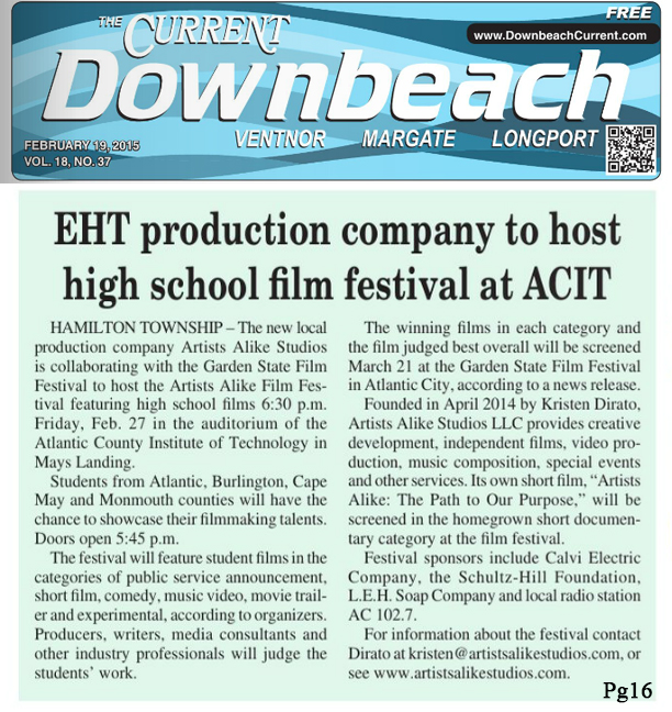 The Downbeach Current of promotes Student Film Festival